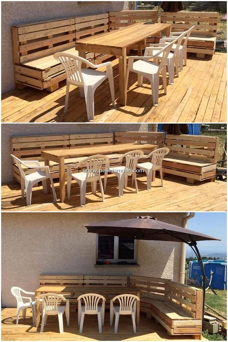 Pallet Couch with Terrace