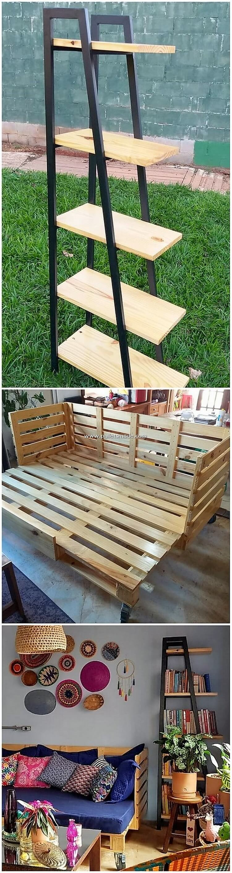 Pallet Shelving Unit and Bench