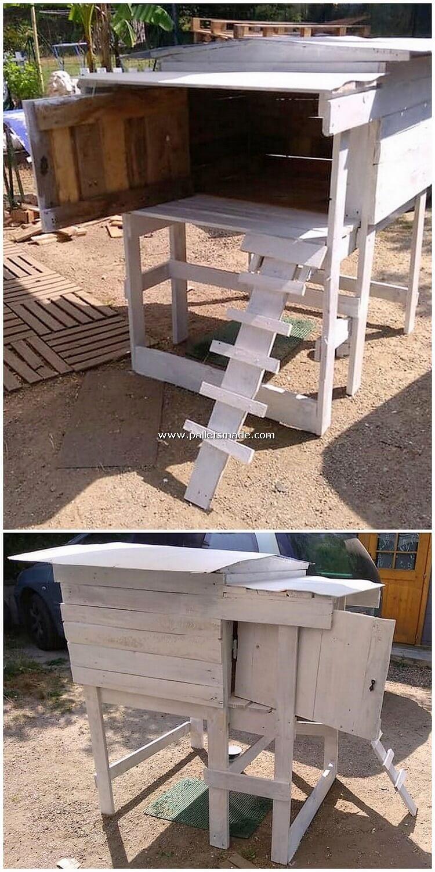 Pallet Wood Chicken Coop