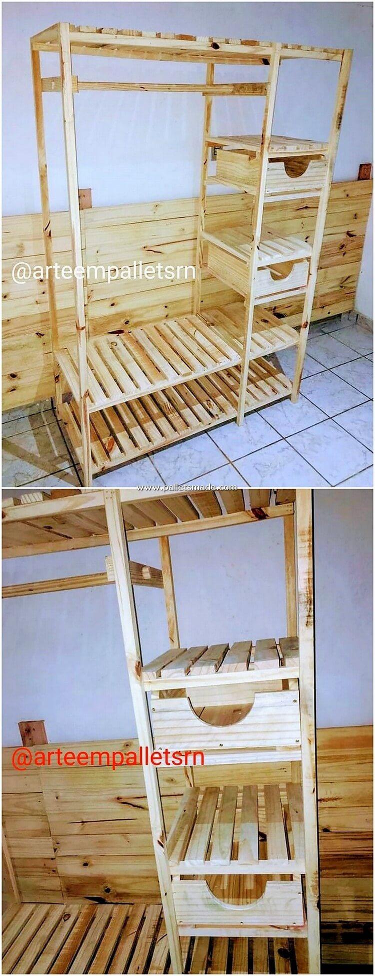 Pallet Wood Closet