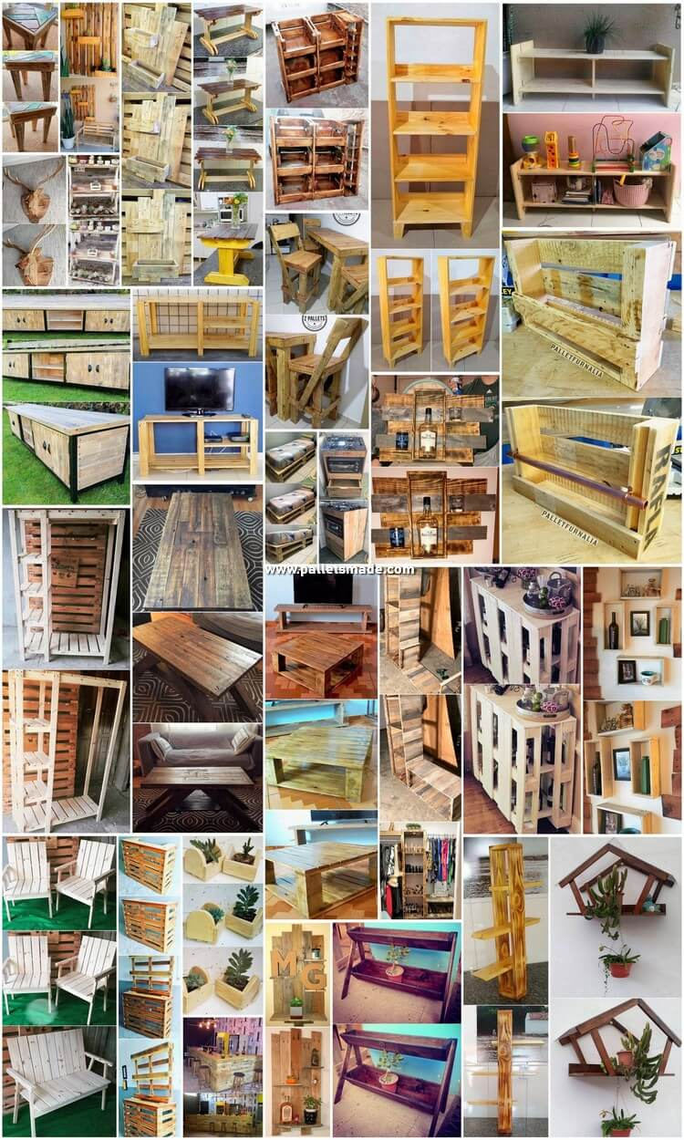 30 DIY Ideas for Wood Shipping Pallets Recycling