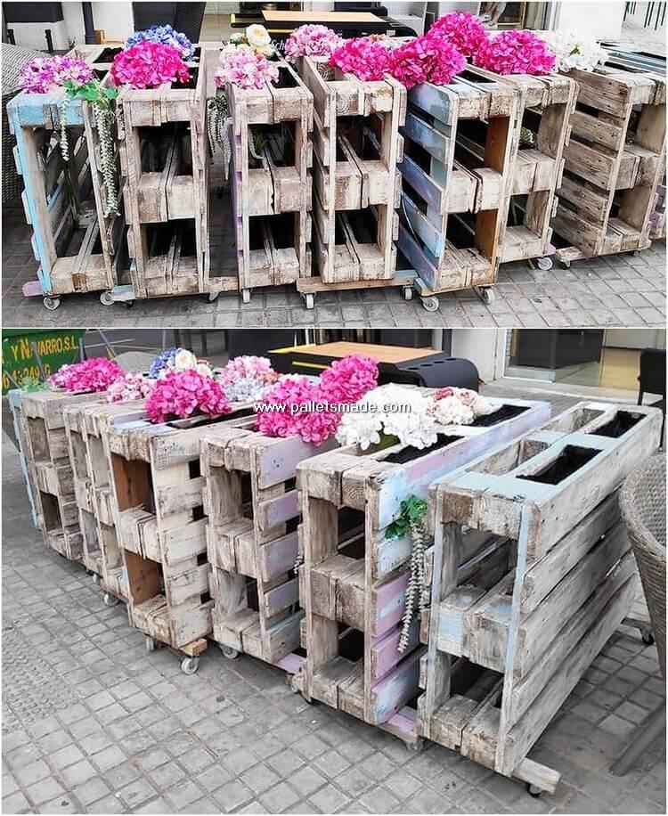 Pallet Flower Planters