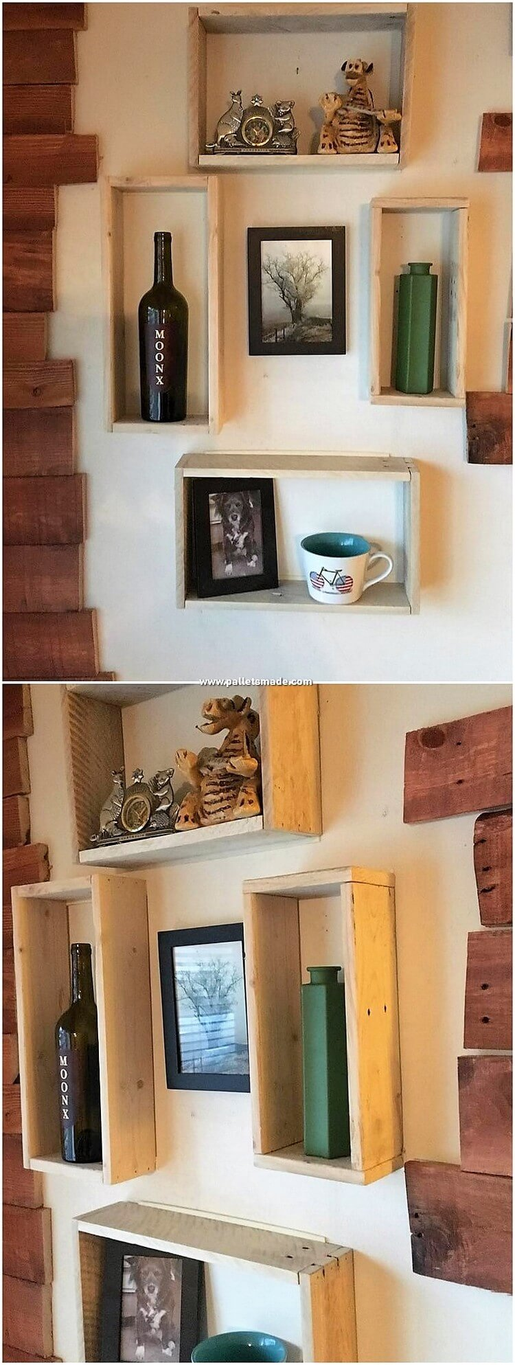 Pallet Wall Decorative Shelves