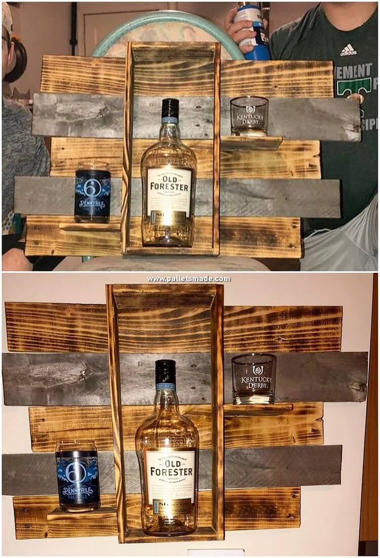Pallet Wood Wine Rack