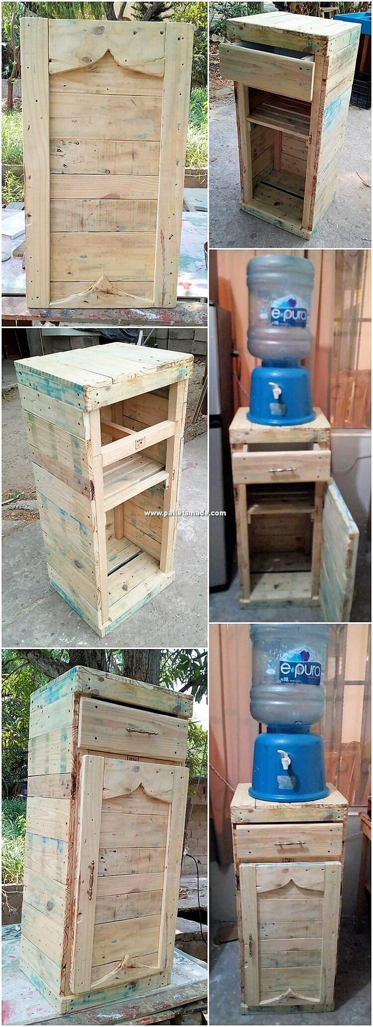 DIY Pallet Cooler Stand with Drawer
