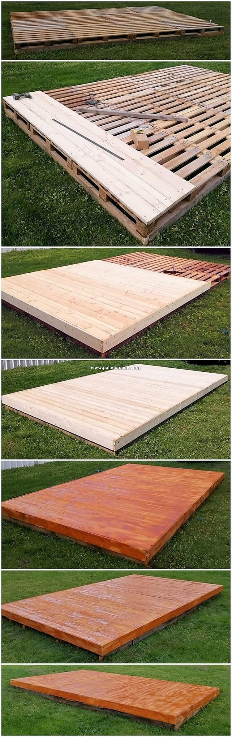 DIY Wood Pallet Garden Terrace