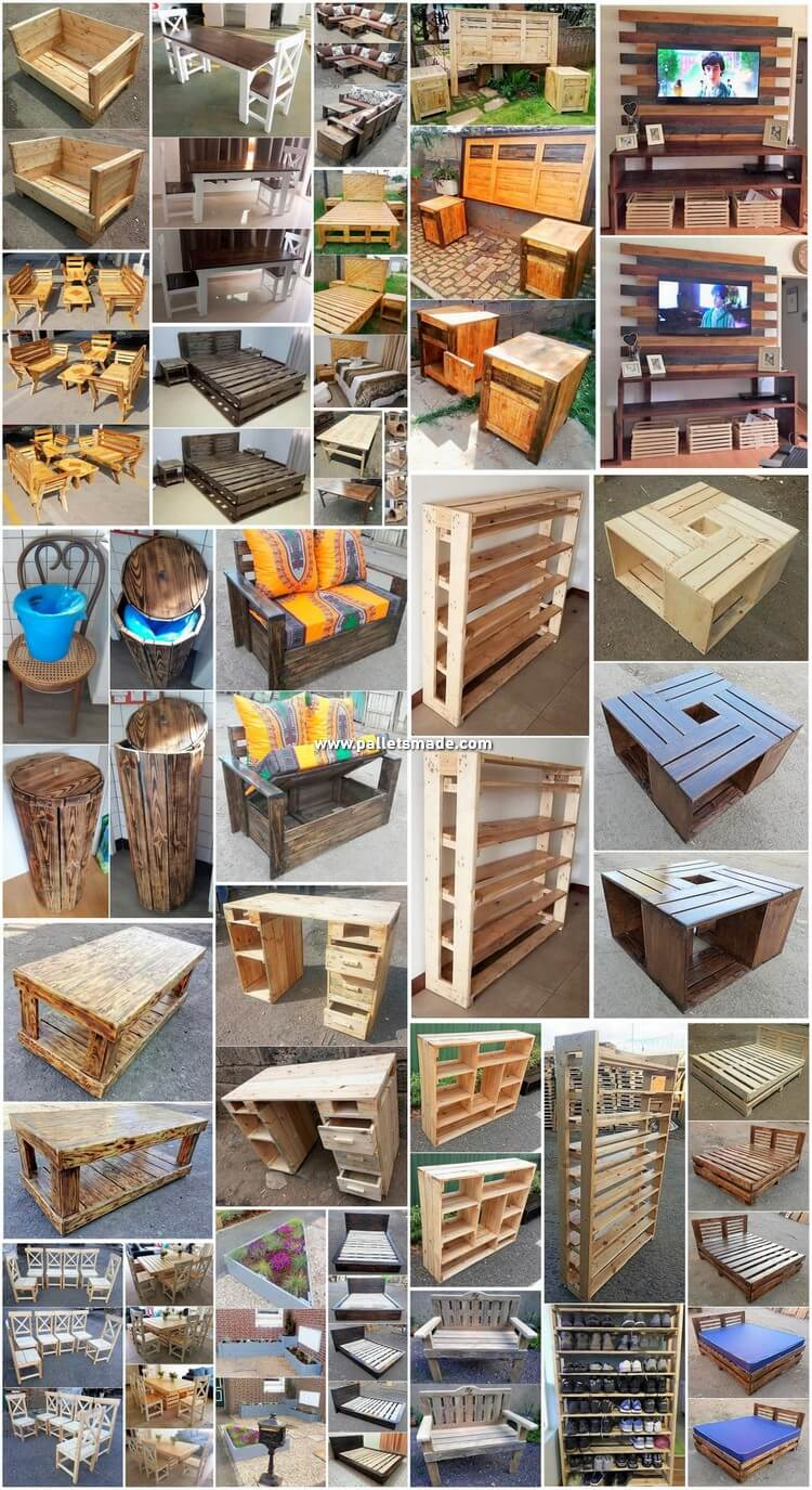Easy to Make Wooden Pallet Projects for Home