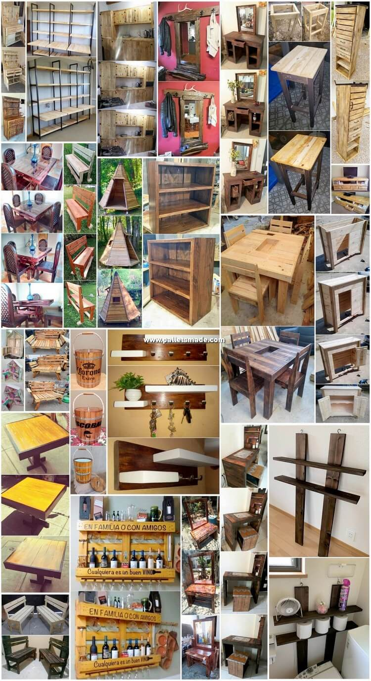 Inspirational DIY Projects Made with Shipping Pallets