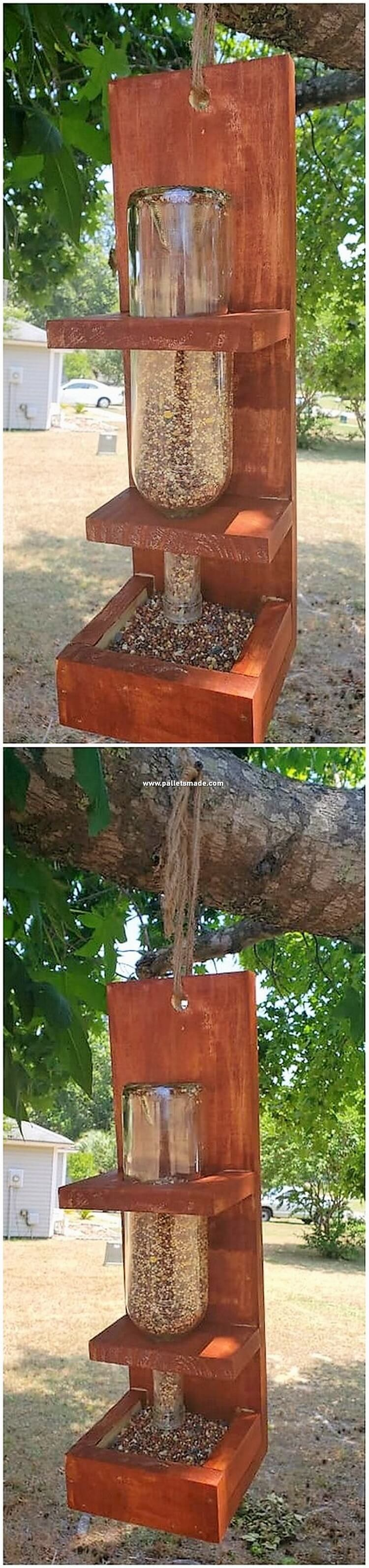 Pallet Birds Food Feeder