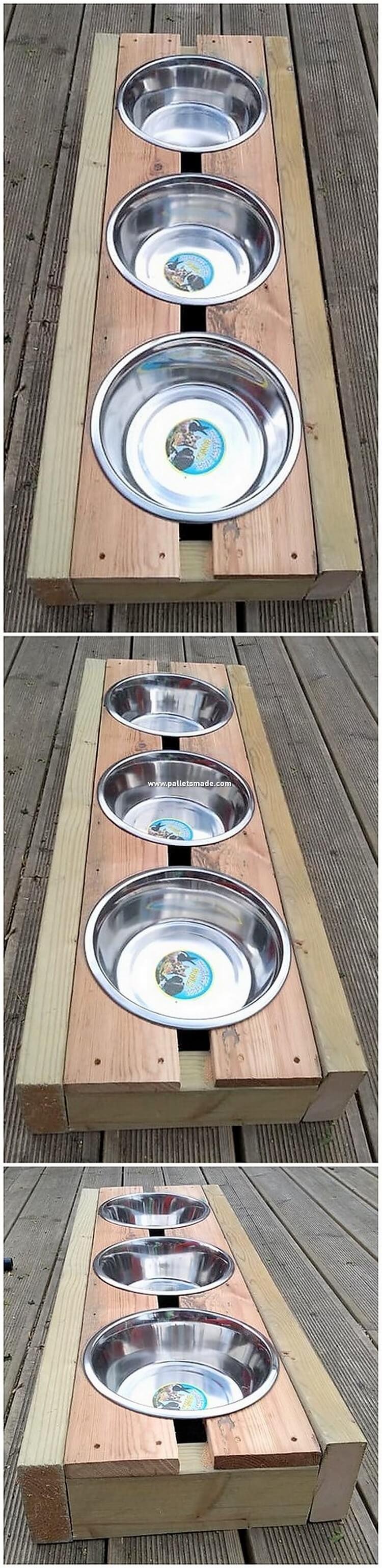 Pallet Pet Food Feeder