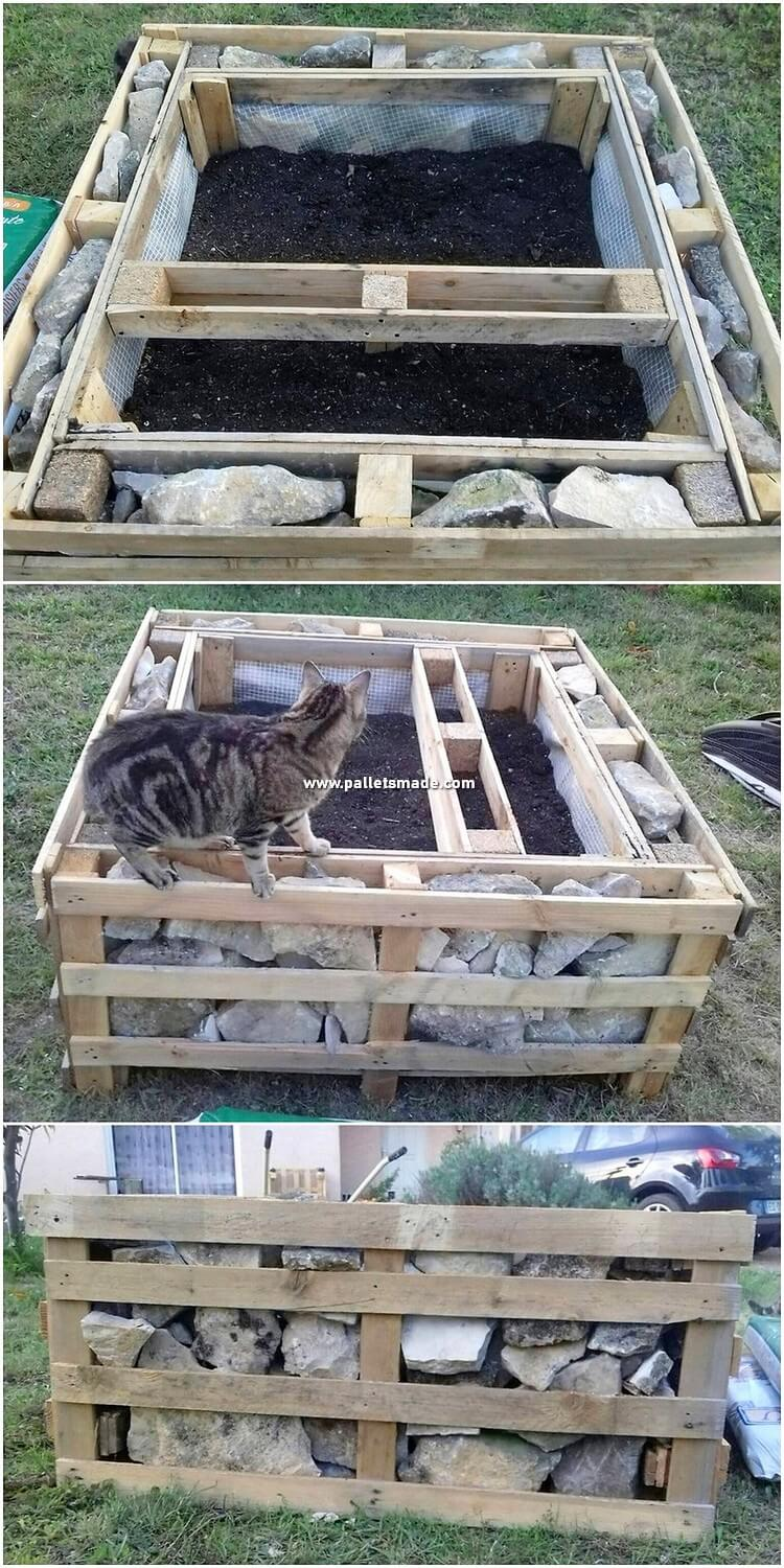Pallet Raised Garden Bed and Planter