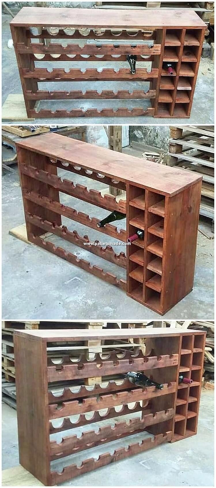 Pallet Shelving Cabinet or Wine Rack