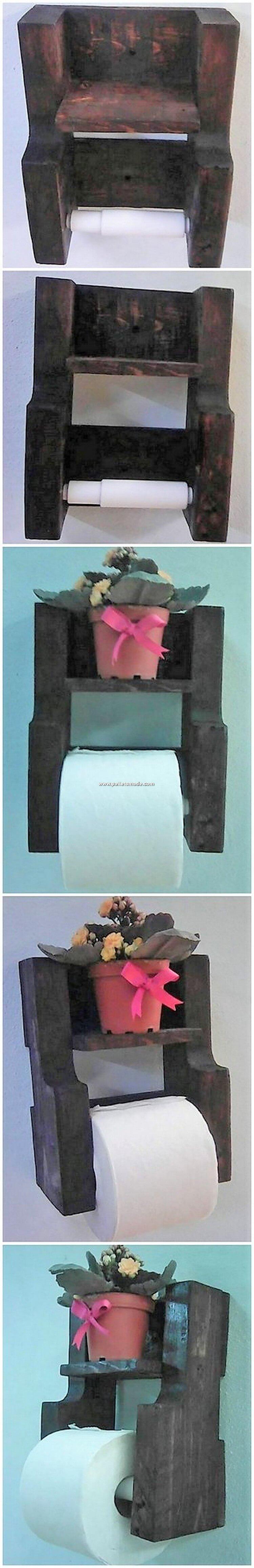 Pallet Toilet Paper Roll Holder