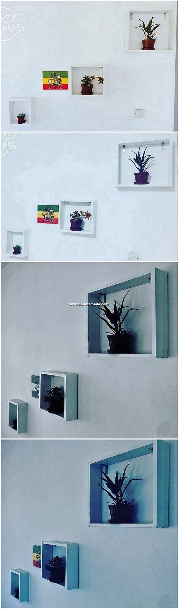 Pallet Wall Decorative Shelves