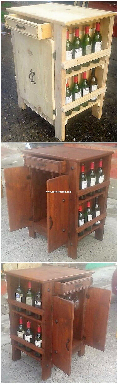 Pallet Wine Rack or Cabinet