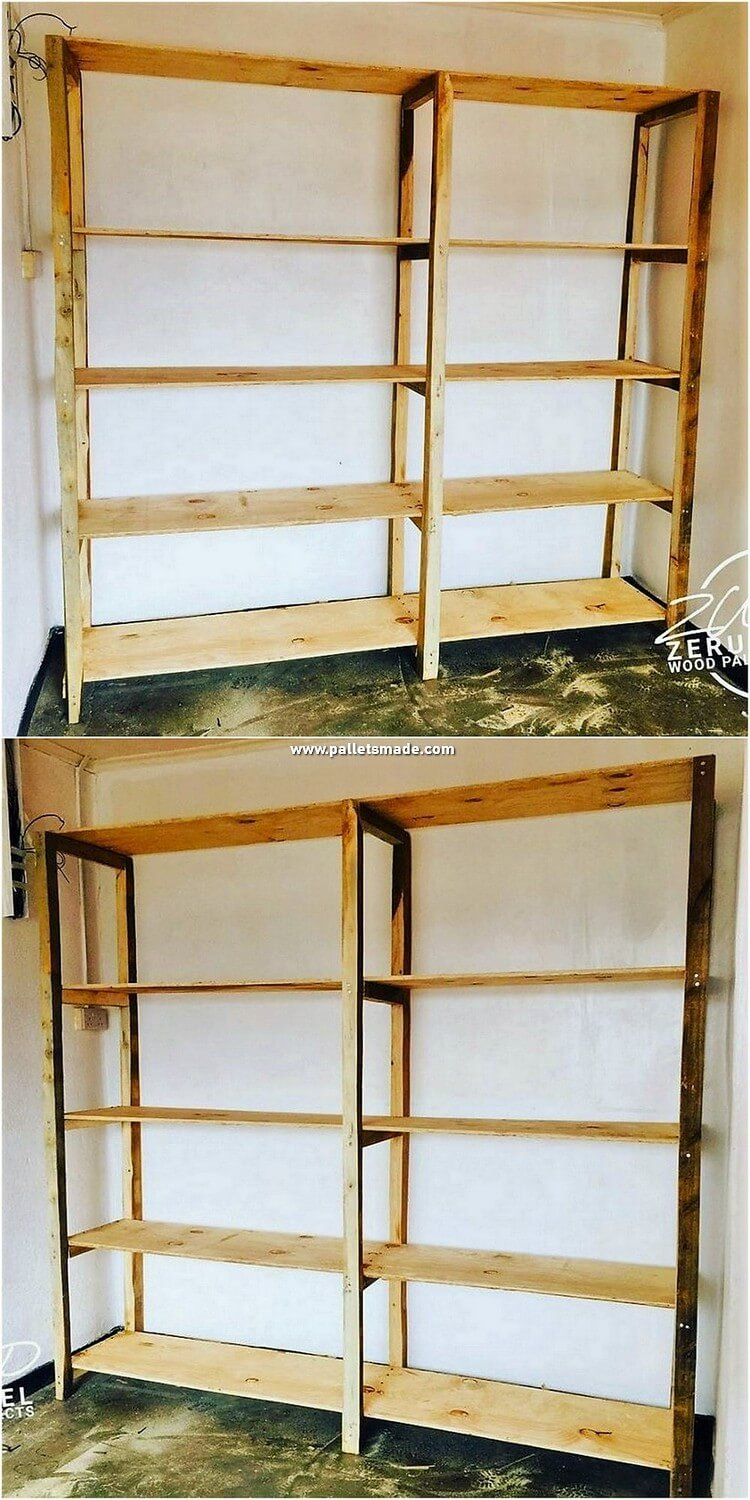 Pallet Wood Shelving Unit