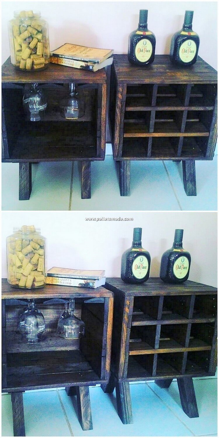 Pallet Wood Side Tables