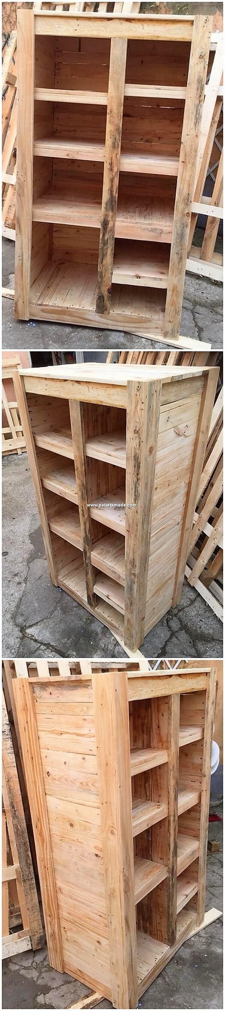 Wood Pallet Shelving Cbainet