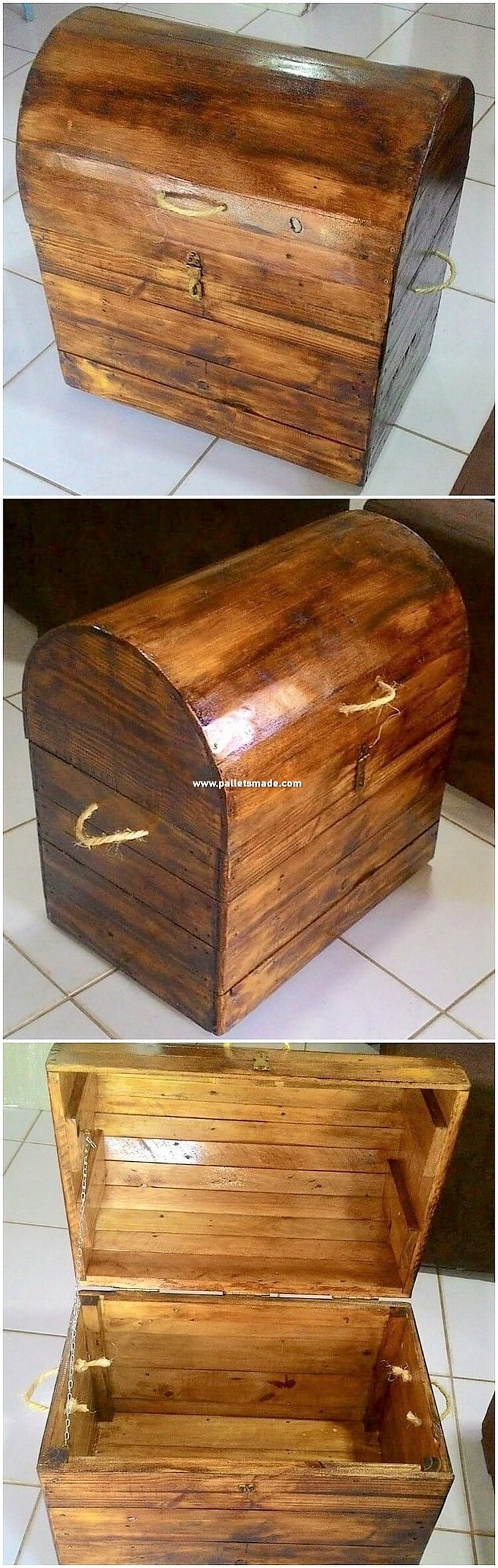 Wood Pallet Storage Box