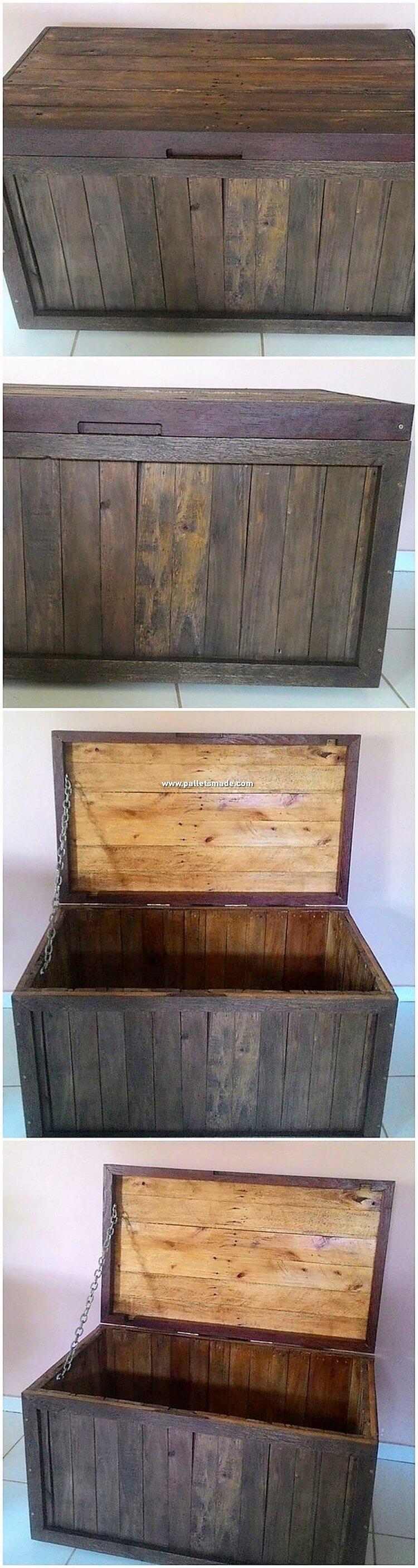 Wooden Pallet Storage Box