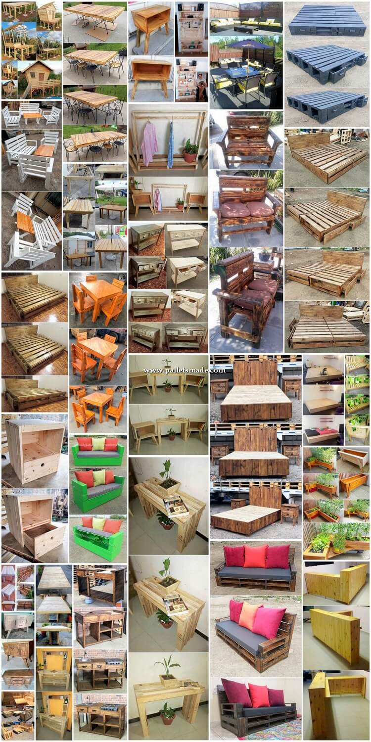 Intricate DIY Wood Shipping Pallet Creations