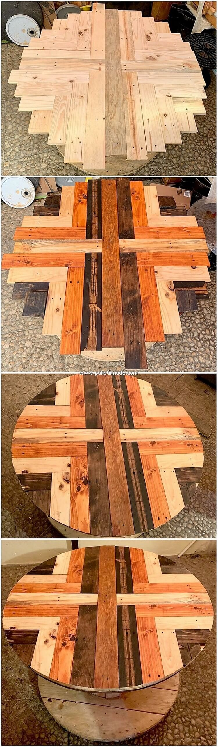 Pallet Round Top Table