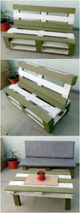 Pallet Wood Bench and Table