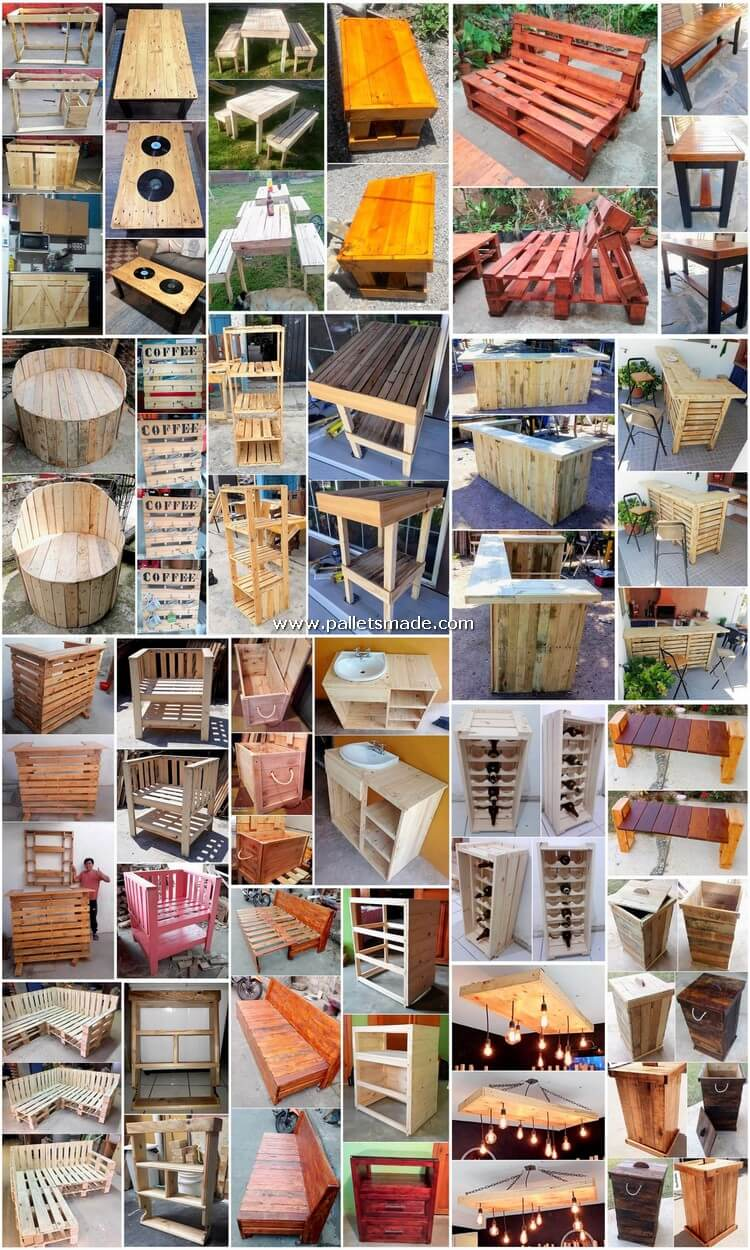 Appealing DIY Ideas You Can Make with Old Pallets