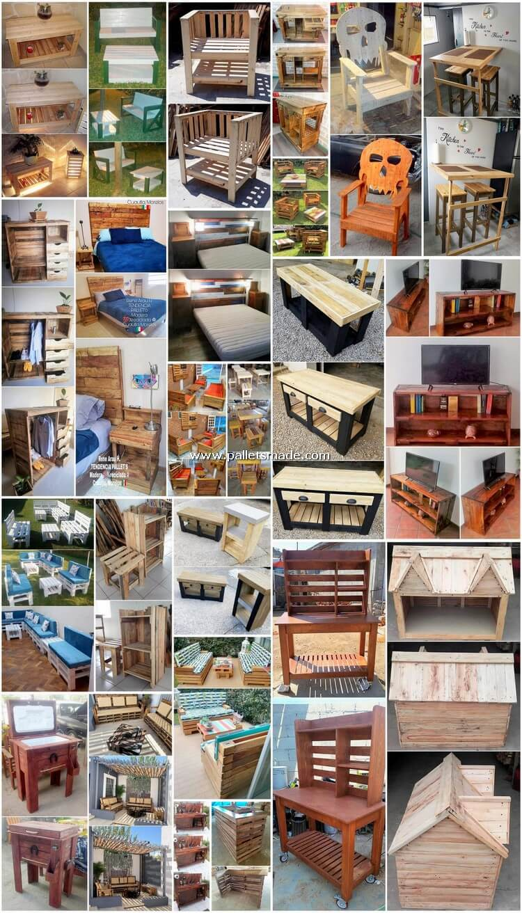 Creative Furniture Designs Made with Recycled Pallets