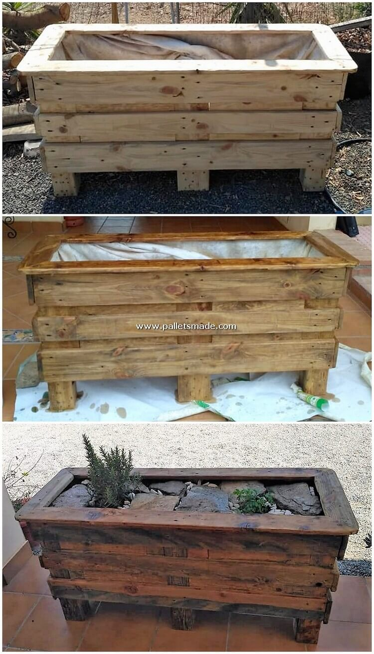 Pallet Wood Planter Box