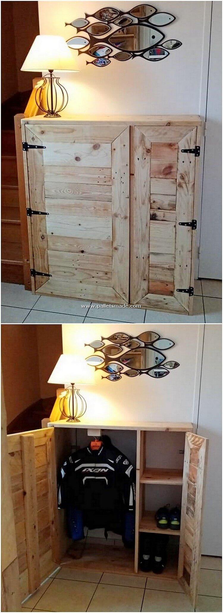 Pallet Closet or Cabinet