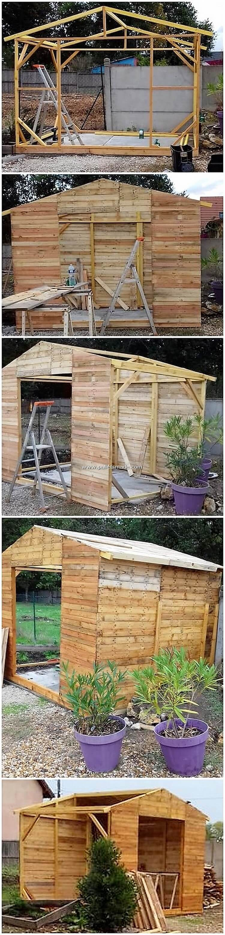 Pallet DIY House or Garden Shed