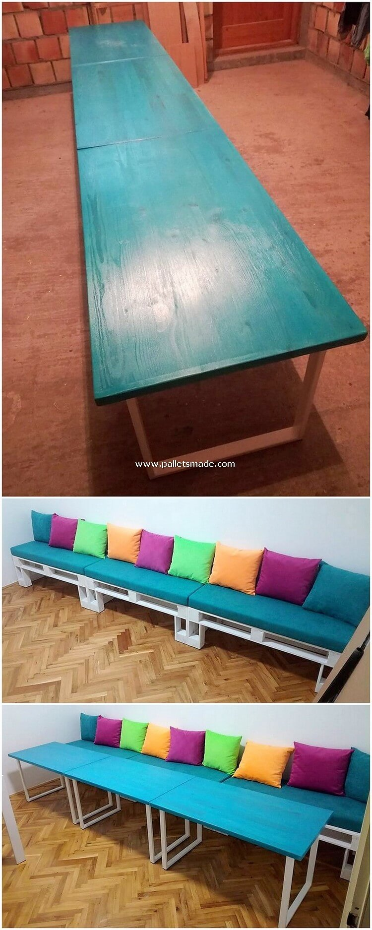 Pallet Table and Sofa