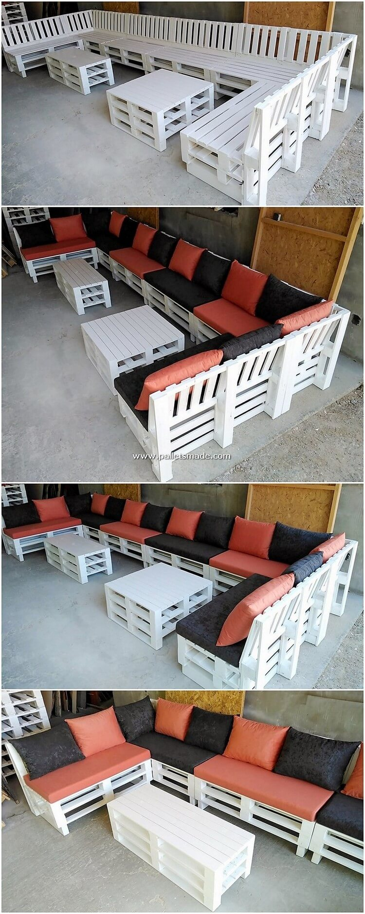 Pallet Wood Couch Set