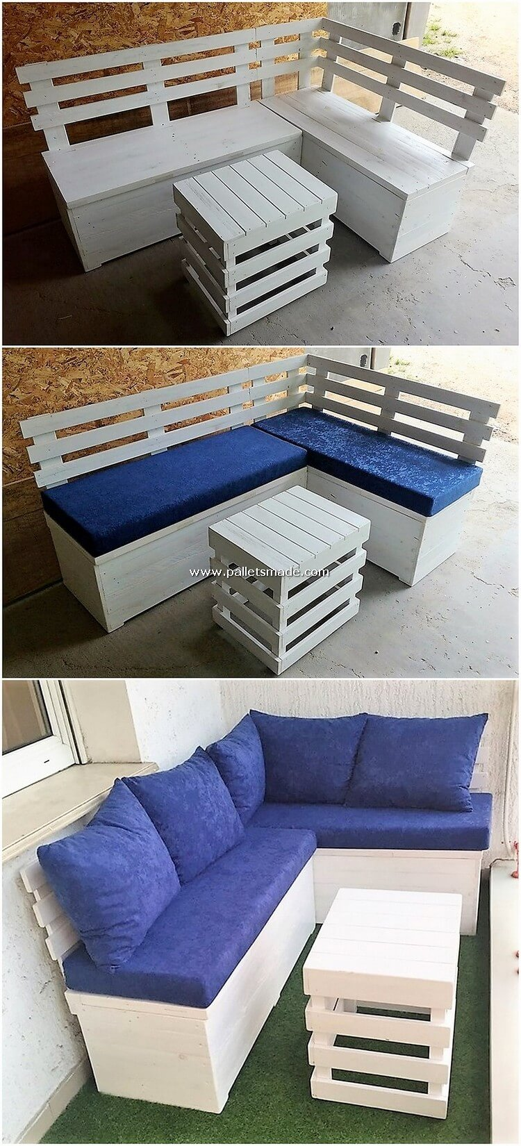 Pallet Wood Sofa and Table