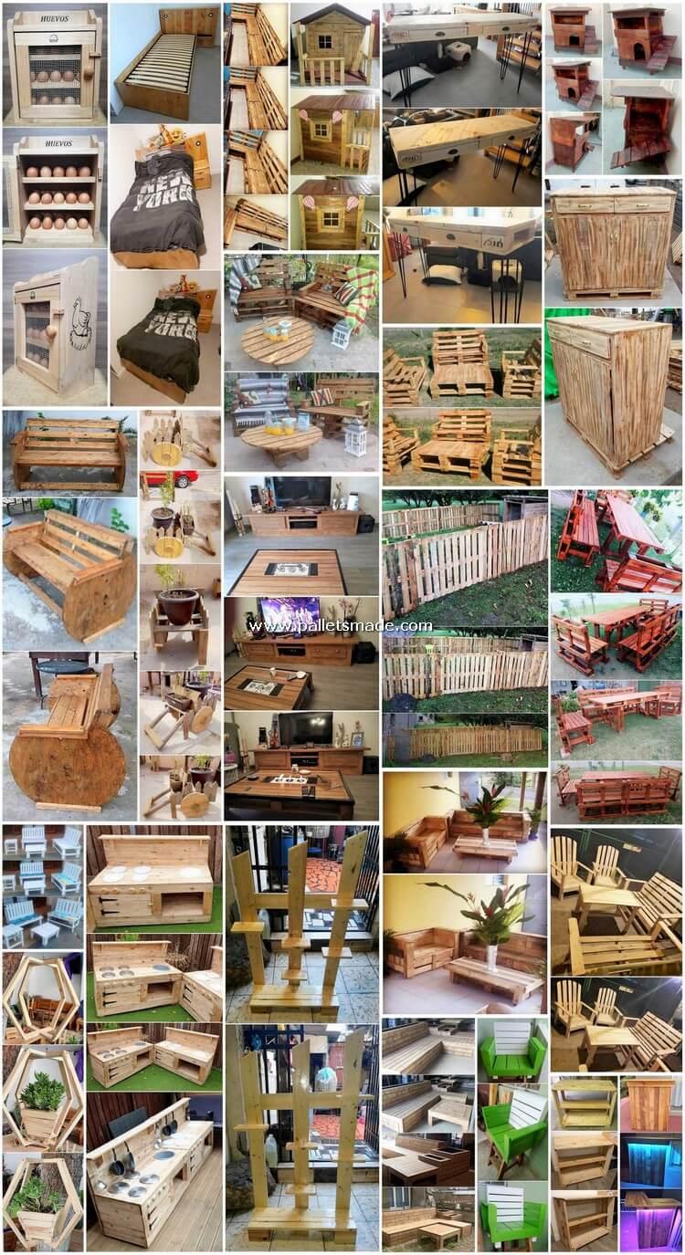 Splendid Ideas for Old Wood Pallets Reusing