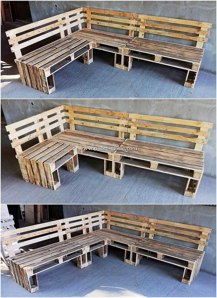 Wood Pallet Couch